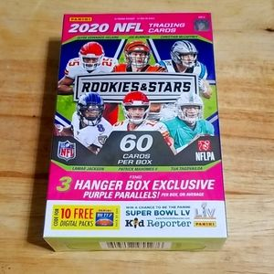 2020 Rookies and Stars football hanger box
